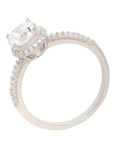 Expression Sterling Silver Sterling Silver Cubic Zirconia Ring-SILVER-7 85457079_SILVER_7