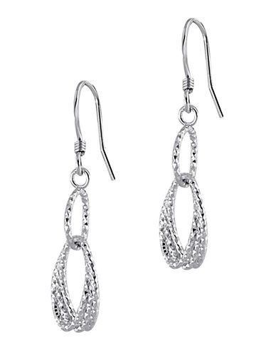 Expression Sterling Silver Sterling Silver Oval Drop Earrings-SILVER-One Size