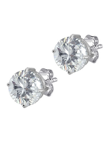 Expression Sterling Silver Sterling Silver CZ Earrings-SILVER-One Size