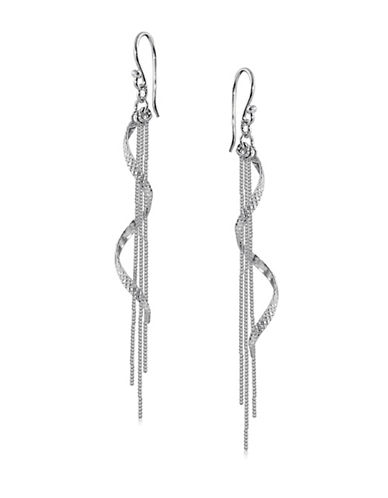 Expression Sterling Silver Sterling Silver Swirl Earrings-SILVER-One Size