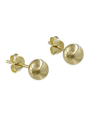 Expression Sterling Silver Goldtone Sterling Silver Ball Earrings-GOLD-One Size