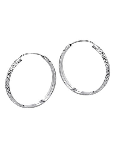 Expression Sterling Silver Sterling Silver Mesh Hoop Earrings-SILVER-One Size