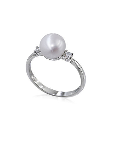 Expression Sterling Silver Sterling Silver Faux Pearl Ring-SILVER-7