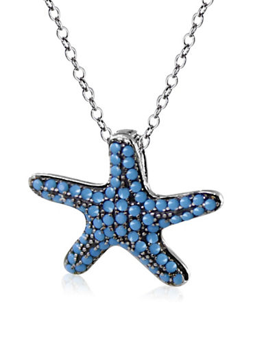 Expression Sterling Silver Starfish Pendant Necklace-SILVER-One Size