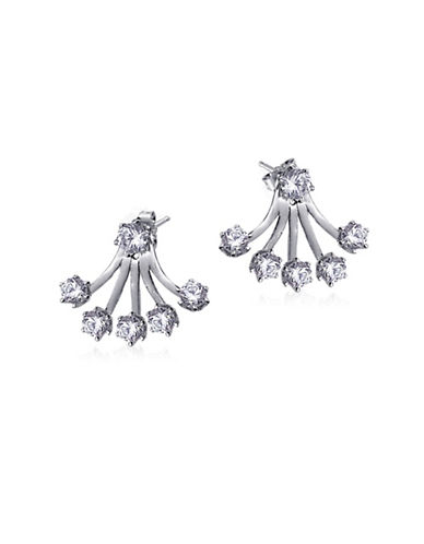 Expression Sterling Silver Five-Prong Stone Sterling Silver Earrings-SILVER-One Size