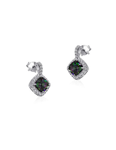 Expression Sterling Silver Square Stone Sterling Silver Earrings-SILVER-One Size