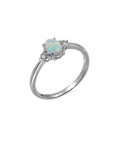 Expression Sterling Silver Opal Sterling Silver Ring-SILVER-7