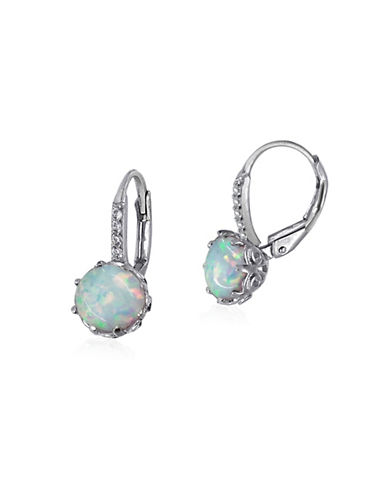 Expression Sterling Silver Opal Sterling Silver Earrings-SILVER-One Size