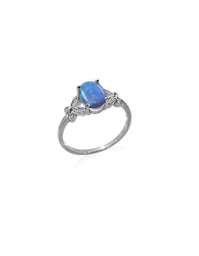 Expression Sterling Silver Blue Opal Sterling Silver Ring-SILVER-7