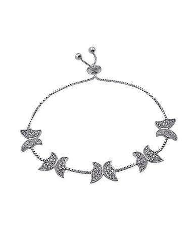 Expression Sterling Silver Pave Butterfly Bracelet-SILVER-One Size