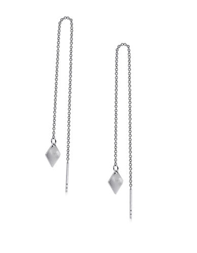 Expression Sterling Silver Sterling Silver Diamond-Shape Chain Earrings-SILVER-One Size