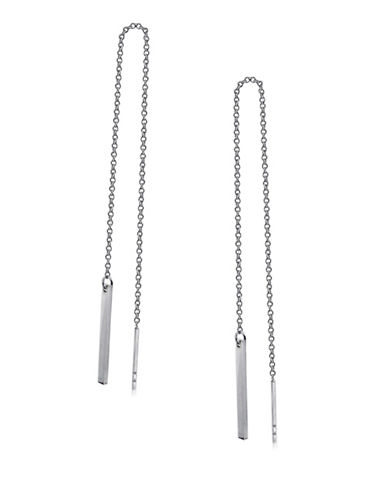 Expression Sterling Silver Sterling Silver Bar Chain Earrings-SILVER-One Size