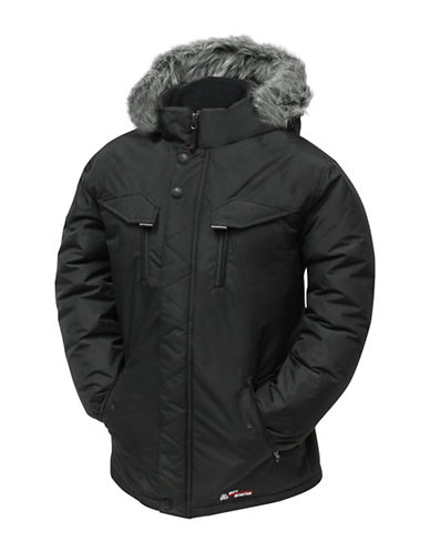 Misty Mountain Quasar Insulated Faux Fur-Trim Jacket-BLACK-X-Large 89564796_BLACK_X-Large