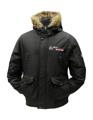 Misty Mountain Crossfire Insulated Faux Fur-Trim Jacket-BLACK-Small