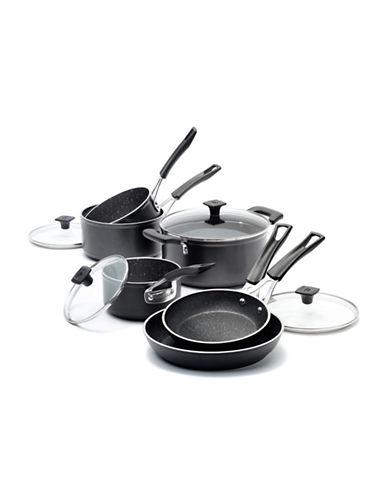 Ricardo The Rock 10-Piece Non-Stick Cookware Set-BLACK-One Size