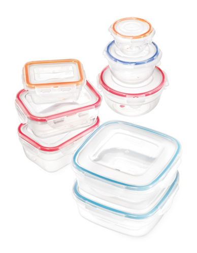 Ricardo 16-Piece Lock and Lock Easy Match Food Container Set-CLEAR-One Size 89218949_CLEAR_One Size