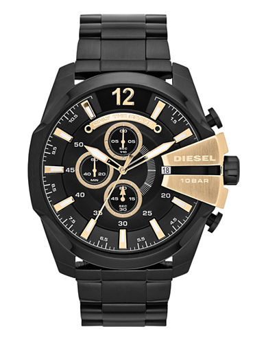 Diesel Mens DZ4338 Stainless Steel-BLACK-One Size