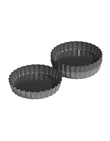 Wilton Six-Piece Mini Tart Pan Set-CHARCOAL-One Size