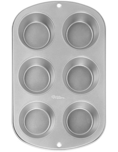 Wilton Six-Cup Standard Muffin Pan-SILVER-One Size
