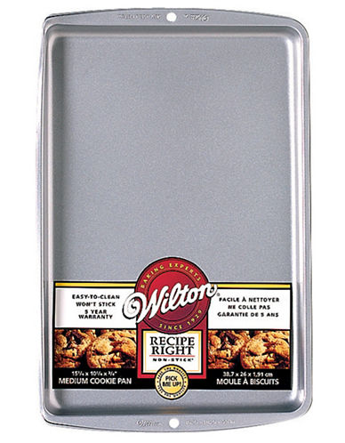 Wilton Medium Size Cookie Pan-SILVER-One Size