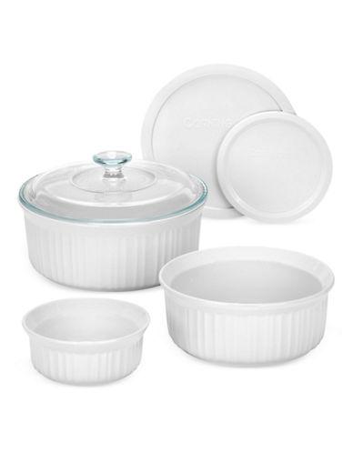 Corningware French White 6 Piece Bakeware Set-WHITE-One Size