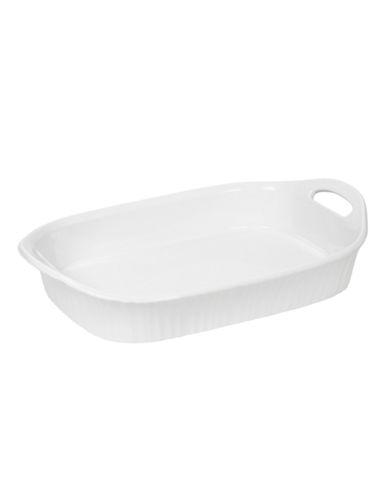 Corningware French White 3 Quart Oblong Casserole-WHITE-3