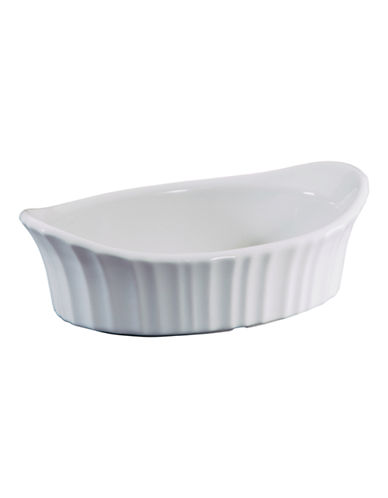 Corningware Oval 18-Ounce Appetizer Dish-WHITE-17oz