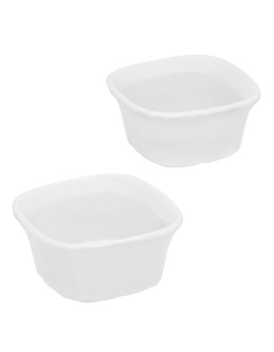 Corningware French White 7oz Square Ramekin Twin Pack-WHITE-7