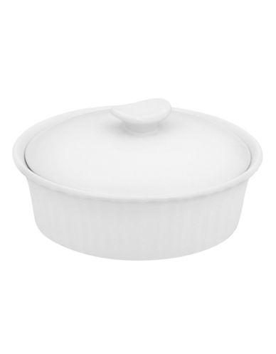 Corningware French White 24oz Dish with Ceramic Cover-WHITE-One Size