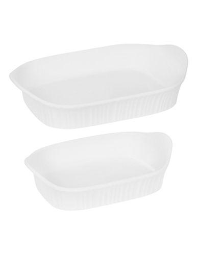 Corningware French White Two-Piece Set-WHITE-One Size