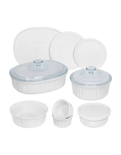 Corningware French White 12 Piece Set-WHITE-One Size