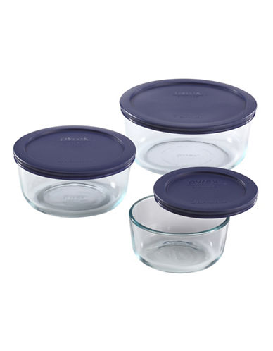 Pyrex Pyrex 6-Piece Round Storage Set-CLEAR-6pc