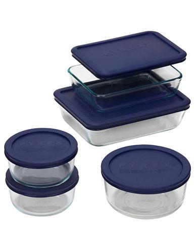 Pyrex Storage Plus 10 Piece Set-BLUE/WHITE-One Size
