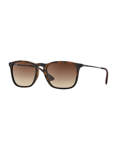 Ray-Ban Chris Square Sunglasses-BROWN-One Size
