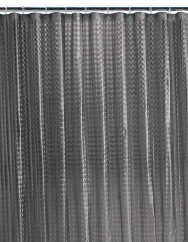 Maytex Dimensional Block PEVA Shower Curtain-SMOKE-One Size