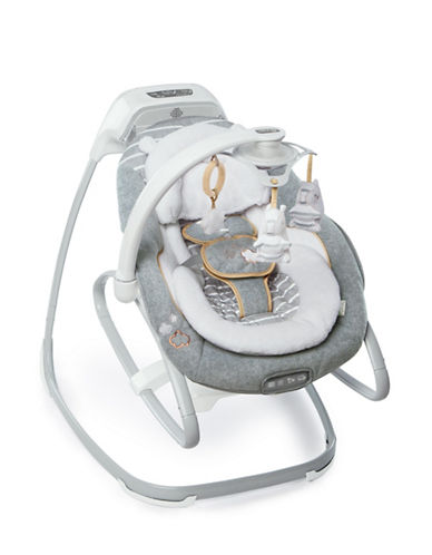 Ingenuity Boutique Collection Bella Teddy Swing & Rocker-GREY-One Size