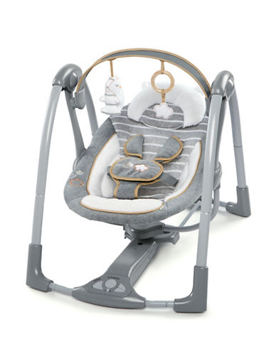 Ingenuity Boutique Collection Bella Teddy Swing n Go Swing-GREY-One Size