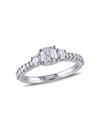 Concerto 14K White Gold Cushion and Round 1.2 Total Carat Weight Diamonds Engagement Ring-DIAMOND-9