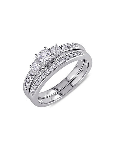 Concerto 14k White 0.5 Total Carat Weight Diamond Wedding Ring Set-DIAMOND-5