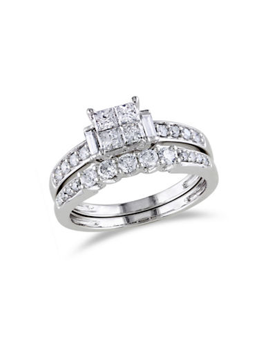 Concerto 14K White Gold Multi-Shape 1 Total Carat Weight Diamonds Wedding Ring Set-DIAMOND-8