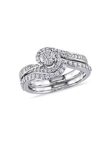 Concerto .74CT  Diamond TW 14k White Gold Wedding Ring Set-DIAMOND-5