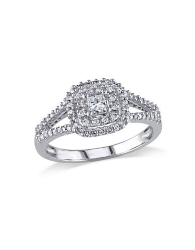 Concerto .5 CT Princess and Round Diamonds TW 14k White Gold Engagement Ring-DIAMOND-6
