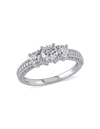 Concerto 14K White Gold Diamond 1 Total Caral Weight Engagement Ring-DIAMOND-5