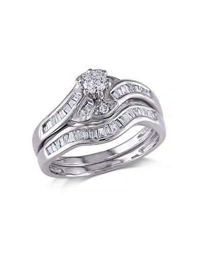 Concerto .5 CT Round and Tapers Diamonds TW 14k White Gold Wedding Ring Set-DIAMOND-6