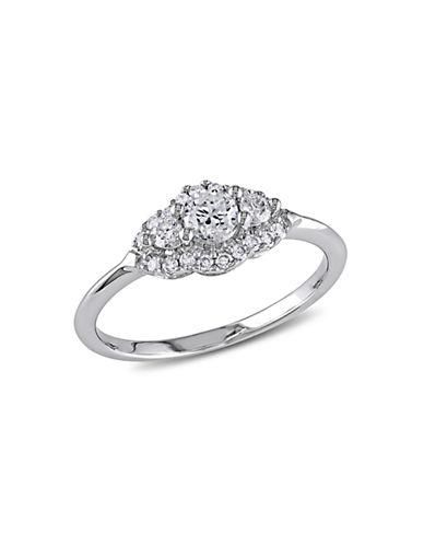 Concerto .5 CT  Diamond TW 14k White Gold Engagement Ring-DIAMOND-7