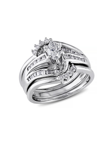 Concerto .75 CT  Multi-shape Diamonds TW 14k White Gold Wedding Ring Set-DIAMOND-8