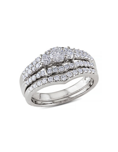 Concerto 1 CT Diamond TW 14k White Gold Bridal Set Ring-DIAMOND-8