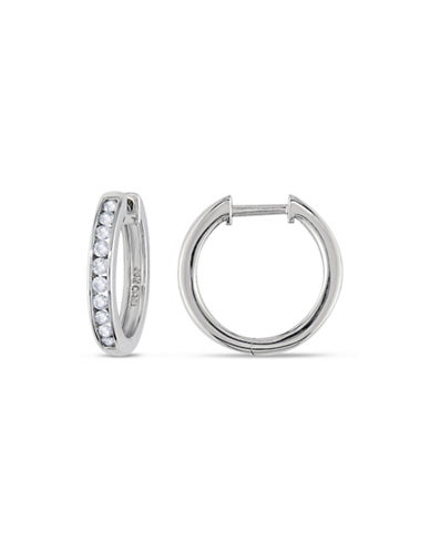 Concerto .5 CT  Diamond TW 14k White Gold Cuff Earrings-DIAMOND-One Size