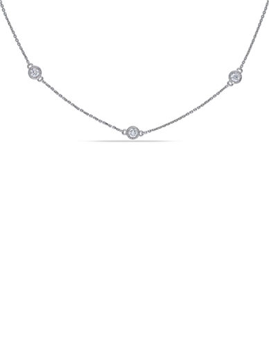 Concerto 1 CT  Diamond TW Necklace With 14k White Gold Chain-DIAMOND-One Size