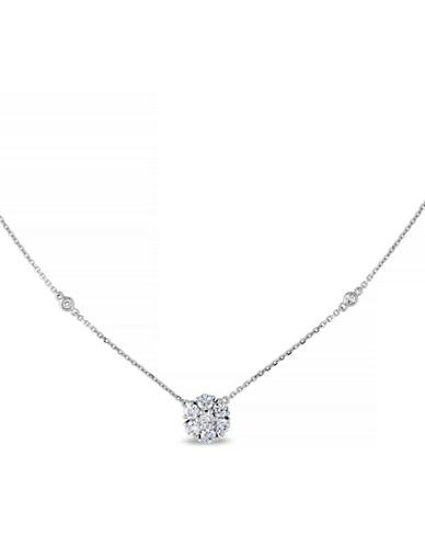 Concerto .75 CT  Diamond TW Necklace With 14k White Gold Chain-SILVER-One Size